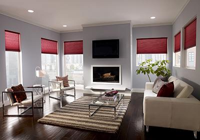 Jackson Hole AV, window treatments, Lutron shade control