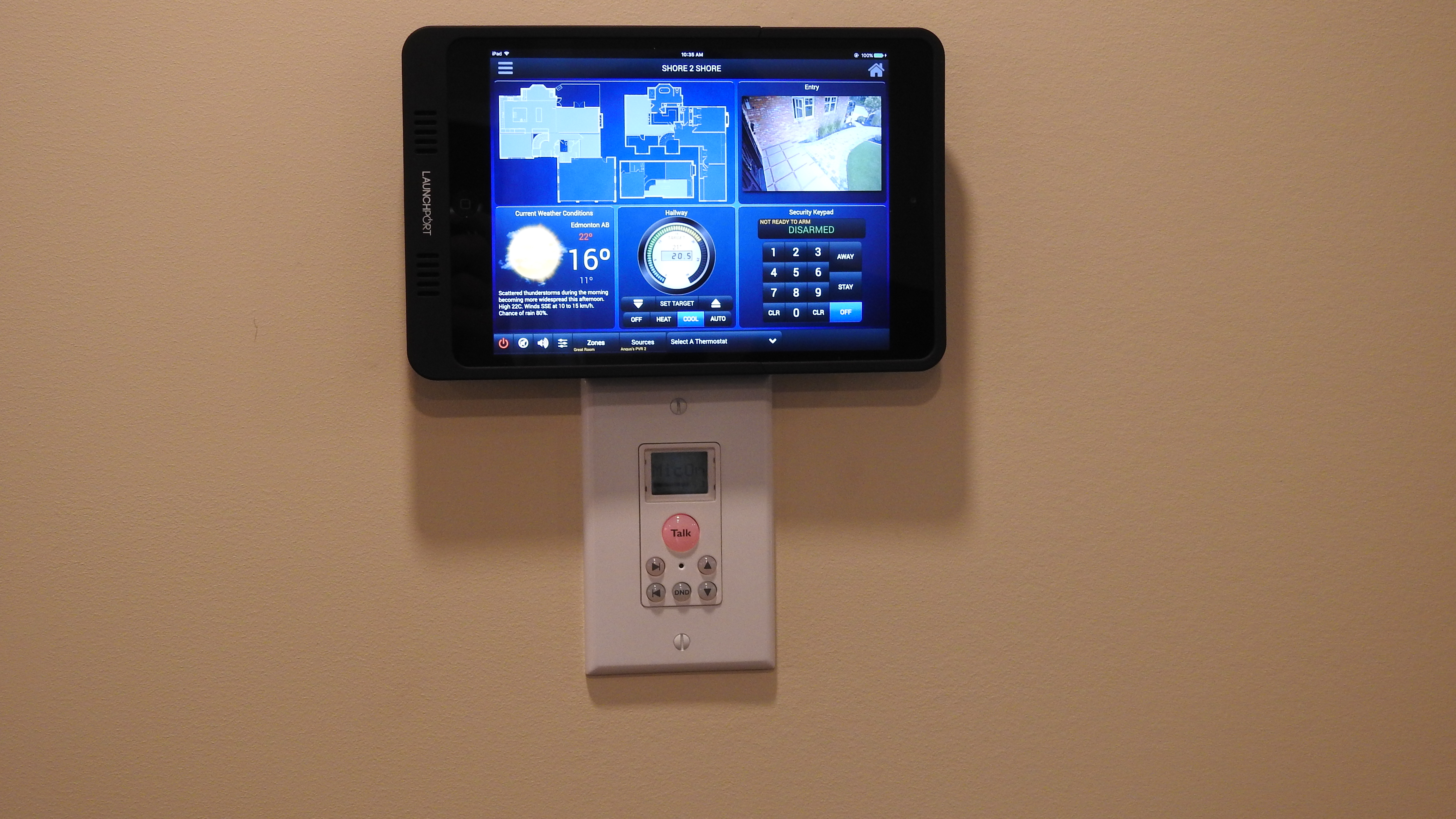 Wall mounted mini ipad