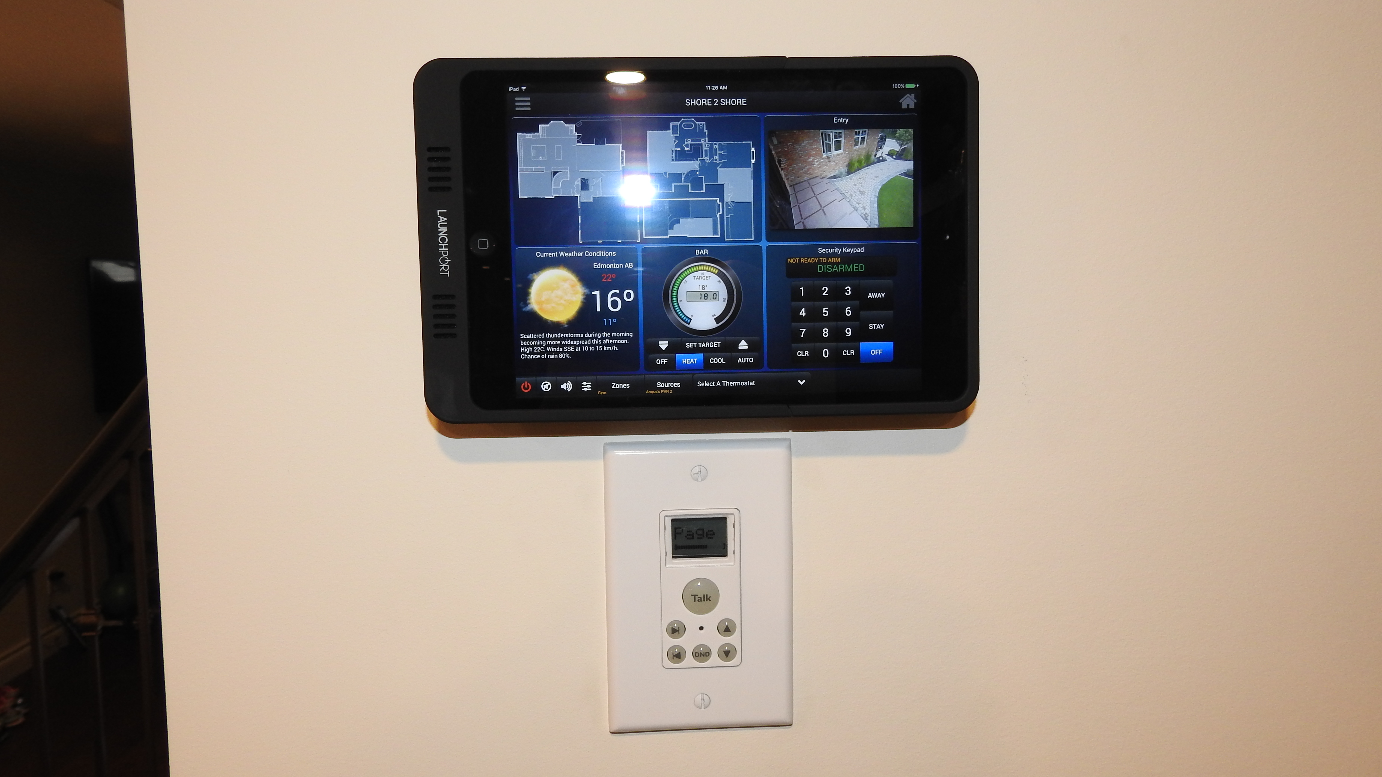 Wall mounted mini ipad 2