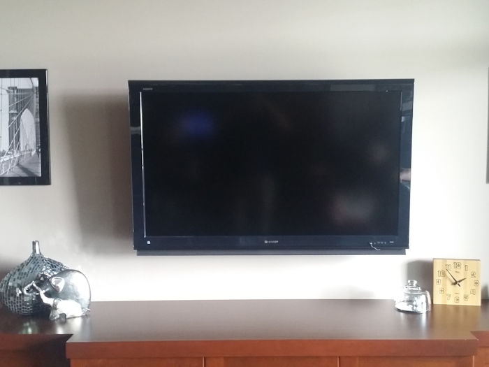 Shore 2 Shore wall mounted TV install